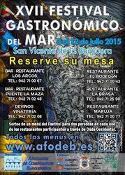 Sorteo de menús del XVII Festival Gastronómico del Mar 2015
