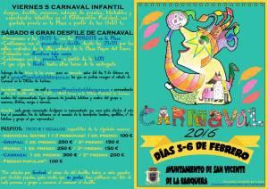 Carnavales 2016 San Vicente de la Barquera - tarifas de hostelería