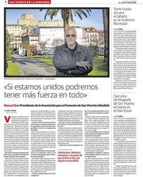Entrevista al Presidente de AFODEB en El Diario Montañés