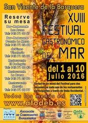 XVIII Festival Gastronómico del Mar 2016 de San Vicente de la Barquera