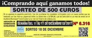 Sorteo 18 de diciembre de 2017 - Campaña de Navidad