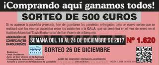 Sorteo 26 de diciembre de 2017 - Campaña de Navidad