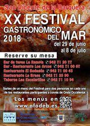 Sorteo de menús del XX Festival Gastronómico del Mar 2018