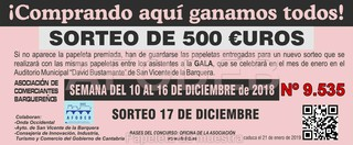 Sorteo 17 de diciembre de 2018 - Campaña de Navidad