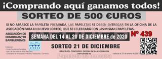 Sorteo 21 de diciembre de 2020 - Campaña de Navidad
