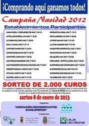 Campaña de Navidad 2012 - Sorteo de 2.000 € - 8 de enero de 2013
