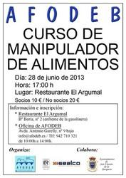 Curso de Manipulador de alimentos en San Vicente