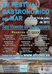 Sorteo de menus del XV Festival Gastronómico del Mar 2013