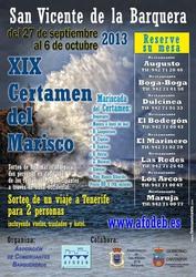 Sorteo de un Viaje a Tenerife para 2 personas - XIX Certamen del Marisco 2013