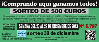 Campaña de Navidad 2013 - Sorteo del 30 de diciembre - 500 €