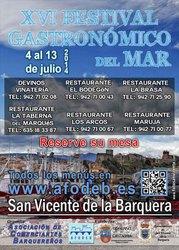XVI Festival Gastronómico del Mar 2014 - Sorteo de menús