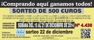 Campaña de Navidad 2014 - Sorteo 22 de diciembre