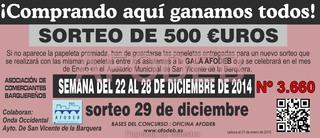 Campaña de Navidad 2014 - Sorteo 29 de diciembre